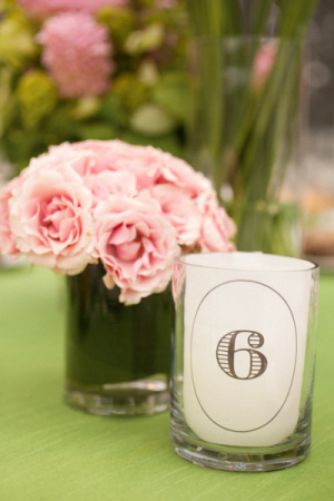 Candle Reception Table Numbers
