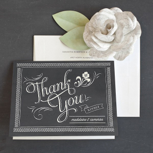 Chalkboard Thank You Note