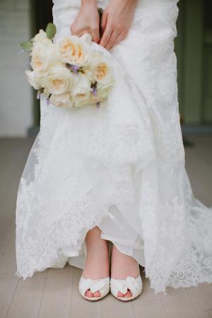 Classic Ivory Rose Bridal Bouquet