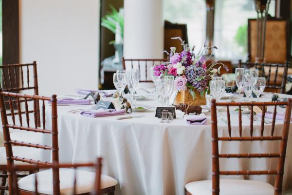 Classic Purple Wedding Reception