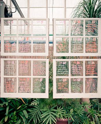 Colorful Marker Windowpane Seating Chart