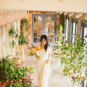 Colorful Mediterranean Wedding Flowers