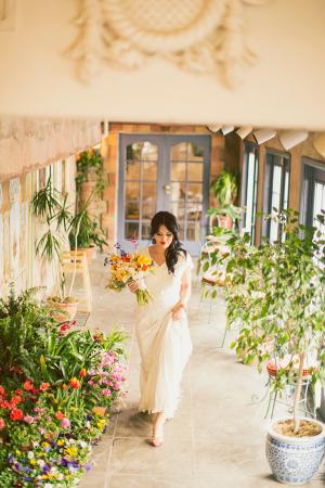 Colorful Mediterranean Wedding Flowers