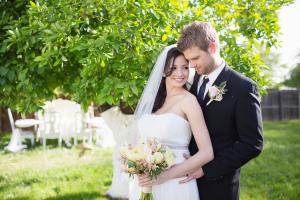 Couple Backyard Wedding Portrait From Diana Elizabeth