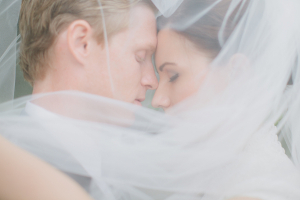 Couple Behind Veil Wedding Ideas From Marvelous Things Photography