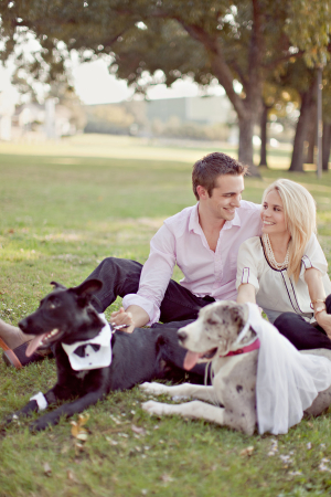 Couple With Dogs in Dallas Park