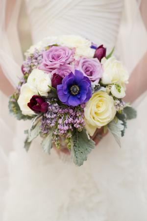 Cream Lavender and Plum Bouquet