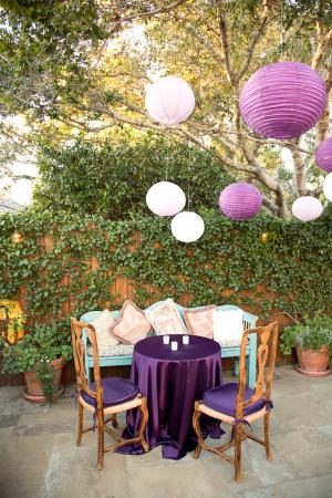 Deep Purple Silk Table Linens
