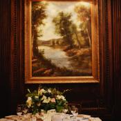 Elegant Brown Green Hotel Wedding