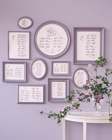 Elegant Calligraphy Framed Seating Chart