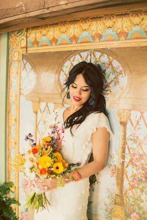 Elegant Flutter Sleeve Wedding Gown