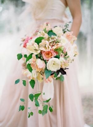 Elegant Pink Cascading Bouquet