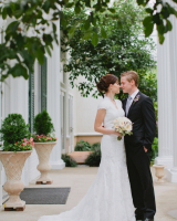 Elegant V Neck Bridal Gown With Sleeves