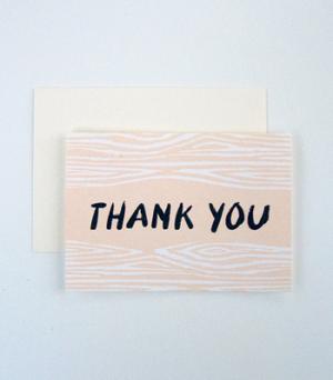 Faux Bois Thank You
