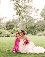 Flower Girl in Fuschia Dress