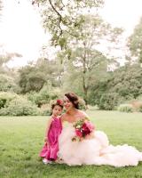 Flower Girl in Fuschia Dress
