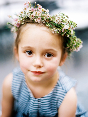 Flower Girl with Wreath