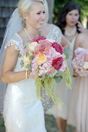 Fluffy Pink Purple Bridal Bouquet