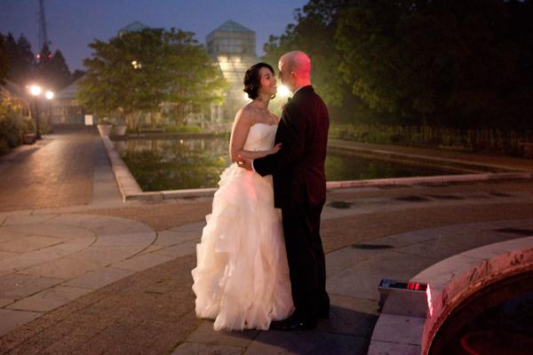 Full Ruffled Skirt on Bridal Gown