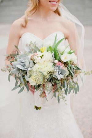 Garden Inspired Cascading Bridal Bouquet