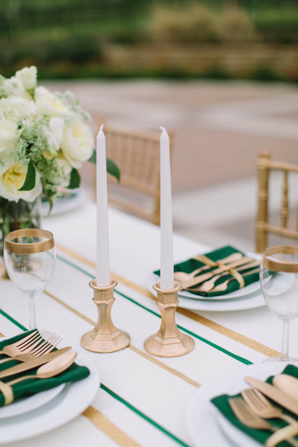 Gold Candlesticks With White Candles