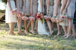 Gold Sparkle Bridesmaids Dresses
