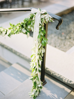 Greenery Garland on Stair Railing