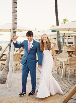 Groom in Blue Boat Shoes