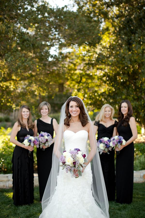 Long Elegant Black Bridesmaids Dresses - Elizabeth Anne Designs: The ...