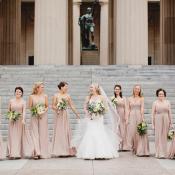 Long Taupe Bridesmaids Dresses