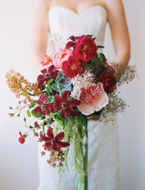 Lush Elegant Burgundy Bouquet
