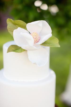 Magnolia Flower on Wedding Cake