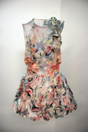 Marbled Fabric Dress