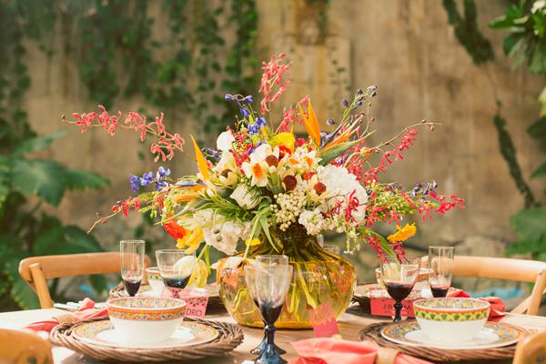 Mediterranean Reception Table Decor