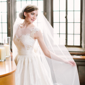 Old Hollywood Style Wedding Gown