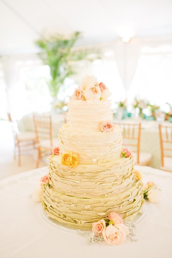 Ombre Frosted Wedding Cake - Elizabeth Anne Designs: The Wedding Blog