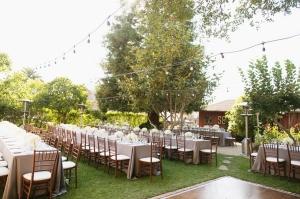 Outdoor California Farm Reception