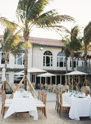 Outdoor Palm Beach Reception