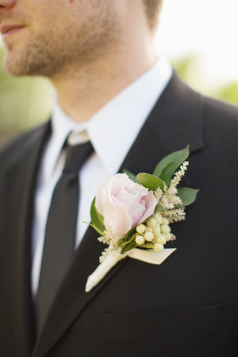 Pale Pink Rose Boutonniere Elizabeth Anne Designs The