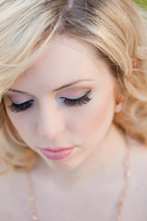 Peach and Lavender Bridal Makeup Ideas