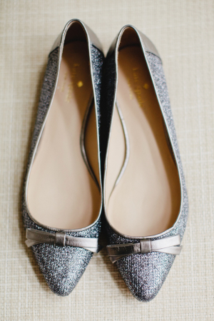 Pewter Kate Spade Wedding Flats