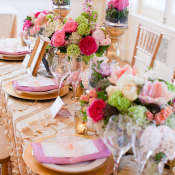 Pink Gold Green Tabletop