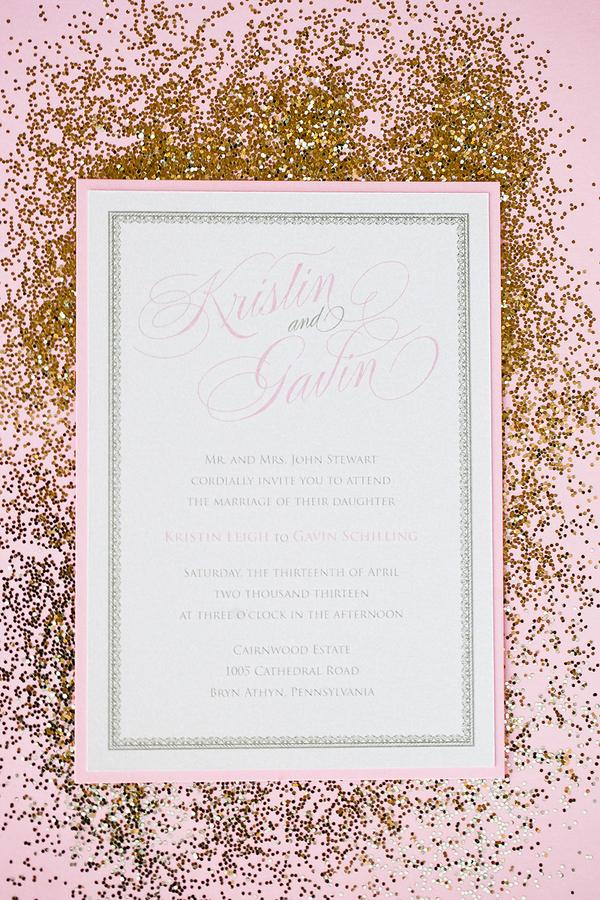 Pink Gold Wedding Stationery
