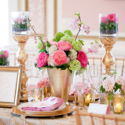 Pink Gold Woodland Tabletop
