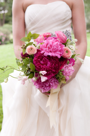 Pink Green and Fuchsia Bouquet