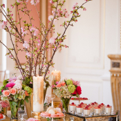Pink and Green Wedding Dessert Table
