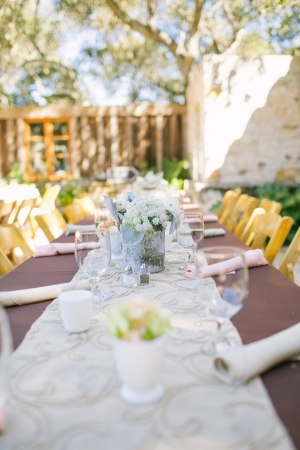 Reception Tables With Rustic Florals