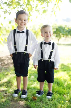 Ring Bearers in Suspenders