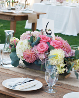 Rustic Pink and Green Reception Decor