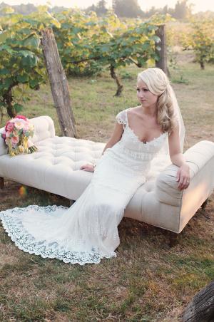 Scalloped Lace Claire Pettibone Gown